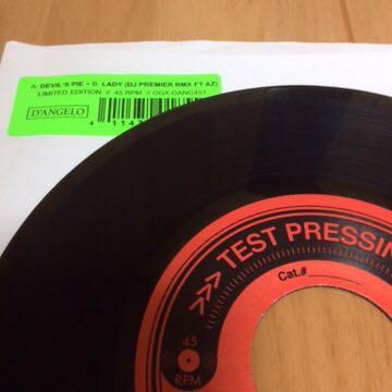 【即決】d'angelo 7インチ レコード rap 45 hip hop r&b dj koco muro kiyo DEVIL'S PIE LADY PREMIER mix tape cd test press d angelo_画像1