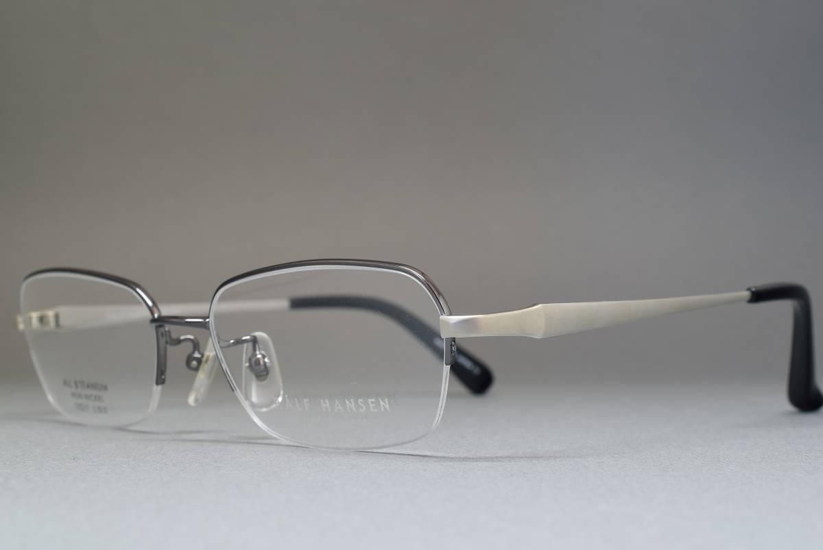 未使用品 RALF HANSEN RH-602 チタン メガネ サングラス ナイロールフレーム 53[]17 日本製_画像2