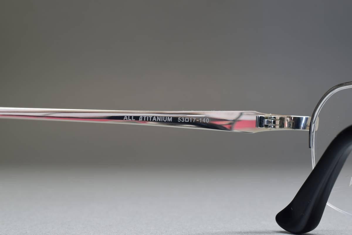 未使用品 RALF HANSEN RH-602 チタン メガネ サングラス ナイロールフレーム 53[]17 日本製_画像5