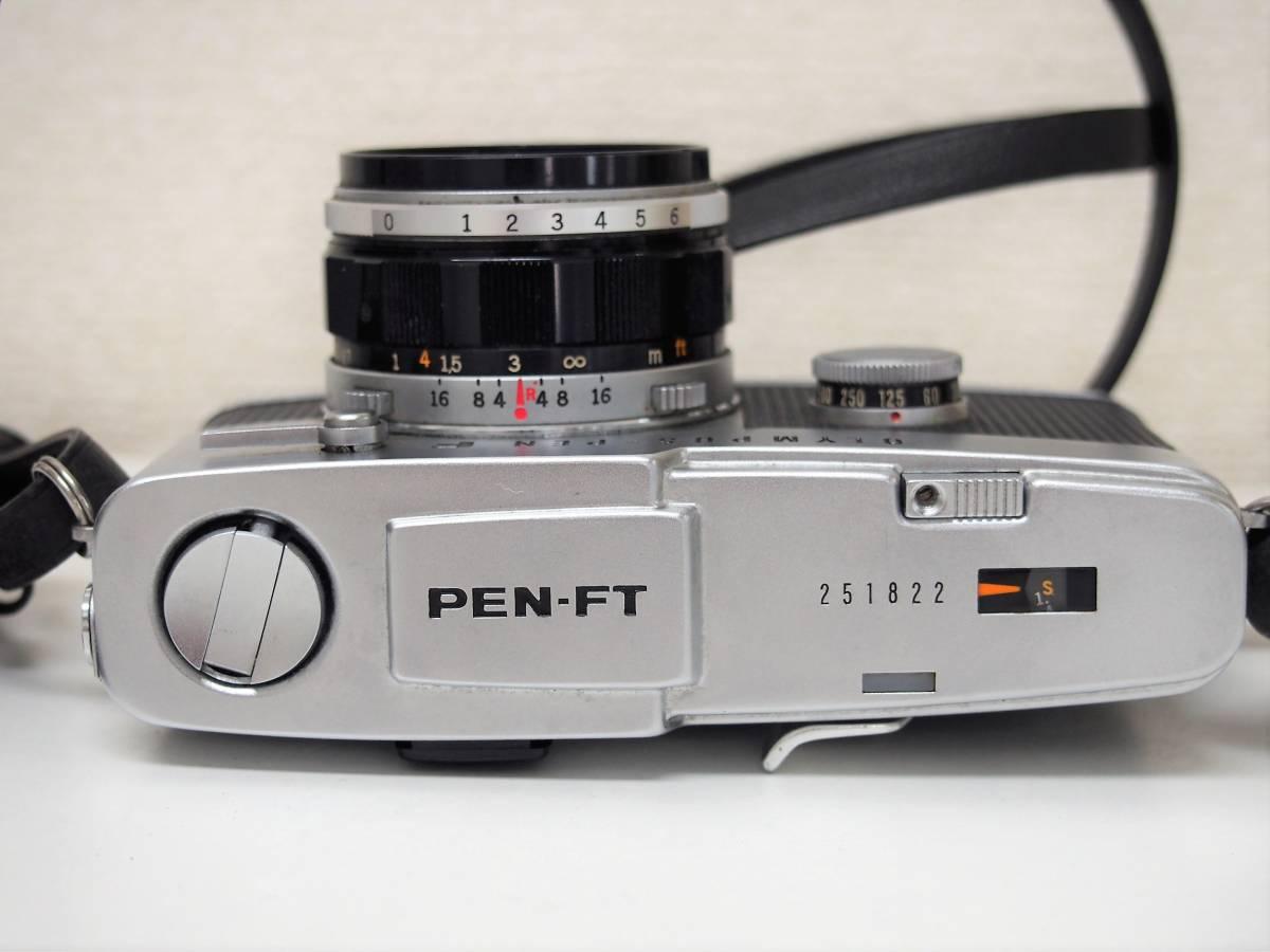 (54)1★オリンパスペン OLYMPUS-PEN FT 一眼レフカメラボディ F.Zuiko Auto-S 1:1.8 f=38mm レンズ ジャンク_画像3