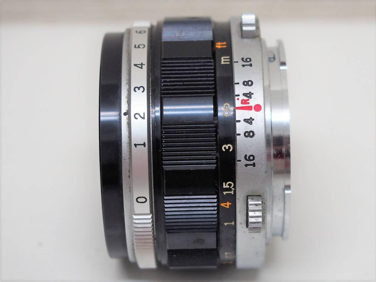 (54)1★オリンパスペン OLYMPUS-PEN FT 一眼レフカメラボディ F.Zuiko Auto-S 1:1.8 f=38mm レンズ ジャンク_画像9
