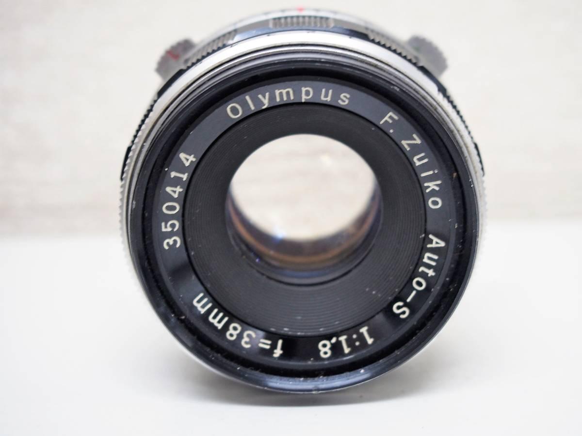 (54)1★オリンパスペン OLYMPUS-PEN FT 一眼レフカメラボディ F.Zuiko Auto-S 1:1.8 f=38mm レンズ ジャンク_画像7