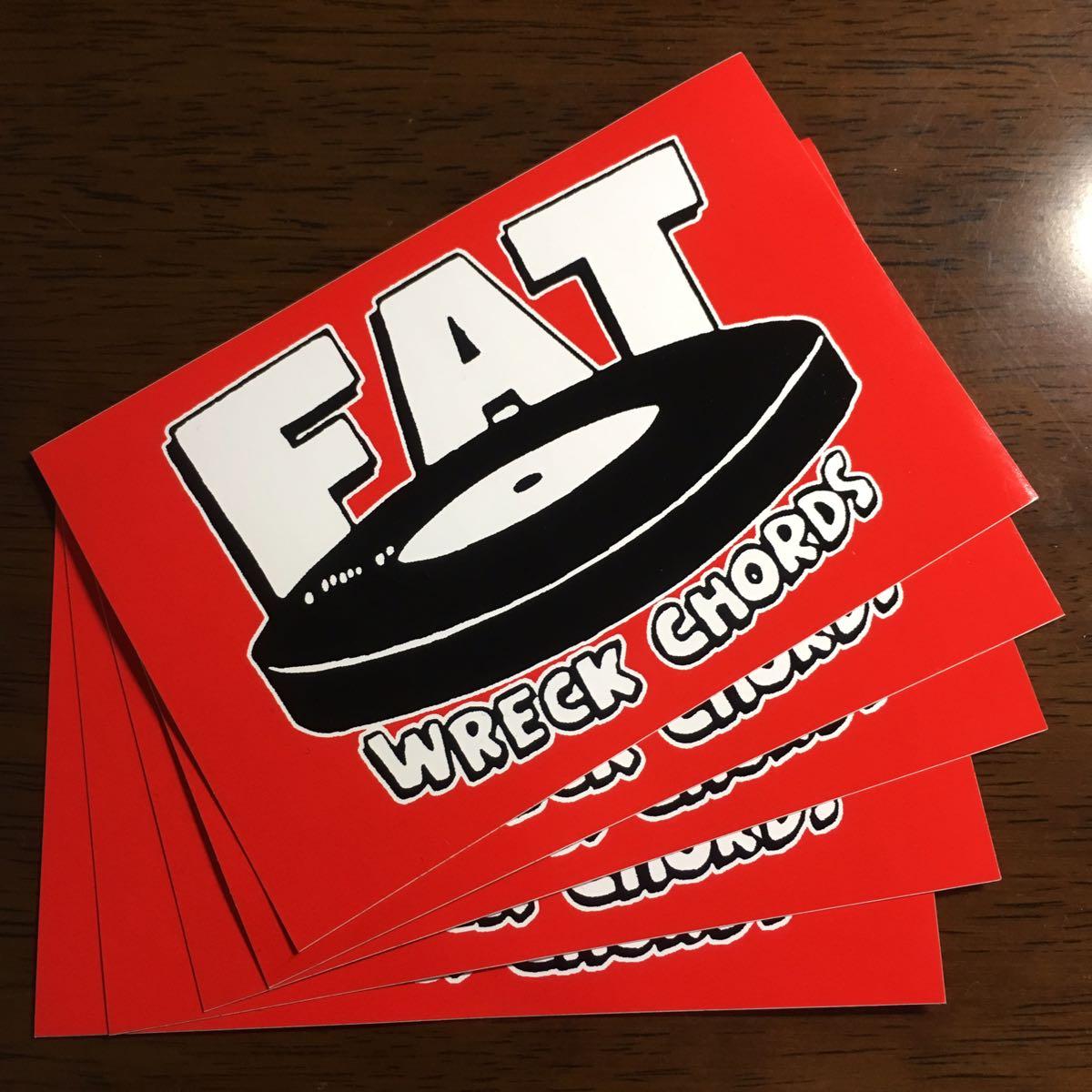 5枚セット!FAT WRECK CHORDS ステッカー / pizza of death hi standard wanima nofx