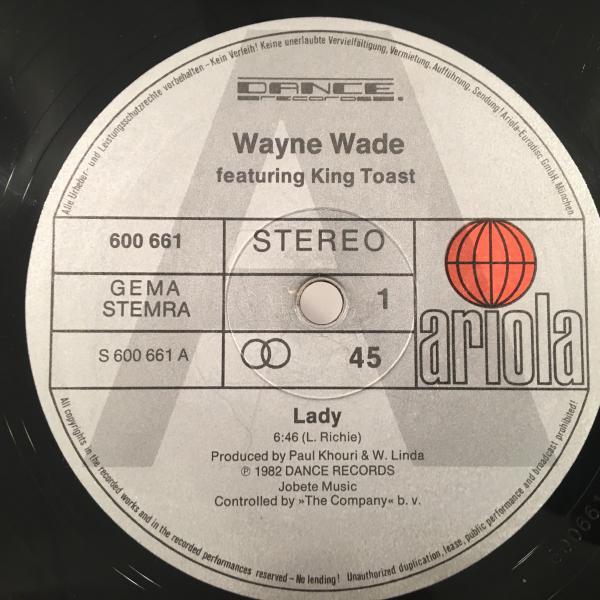 ★Wayne Wade/Lady★人気カバー!_画像2