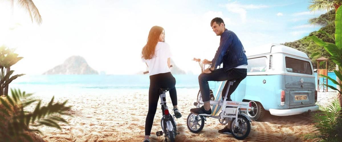 「超小型 ボタン1つで自動伸縮 フル電動自転車 Airwheel R6 smart E-bike スマートイーバイク」の画像2