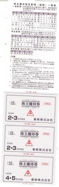 【大黒屋】東映株主優待券綴 1冊 平成30年2月1日から平成30年7月31日まで_画像2