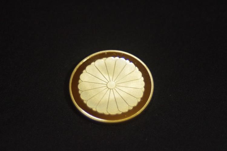 24KGP 記念メダル 菊の御紋 菊紋 鳳凰 メダル 金 ゴールド コイン_画像3