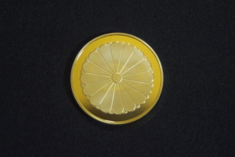 24KGP 記念メダル 菊の御紋 菊紋 鳳凰 メダル 金 ゴールド コイン_画像8