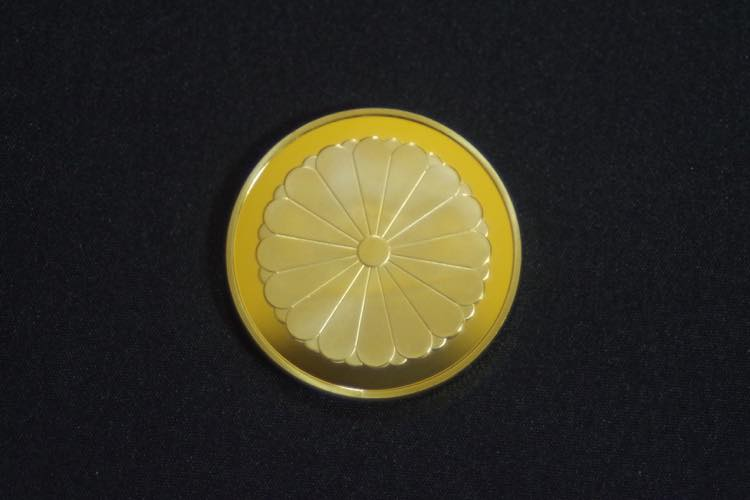 24KGP 記念メダル 菊の御紋 菊紋 鳳凰 メダル 金 ゴールド コイン_画像7