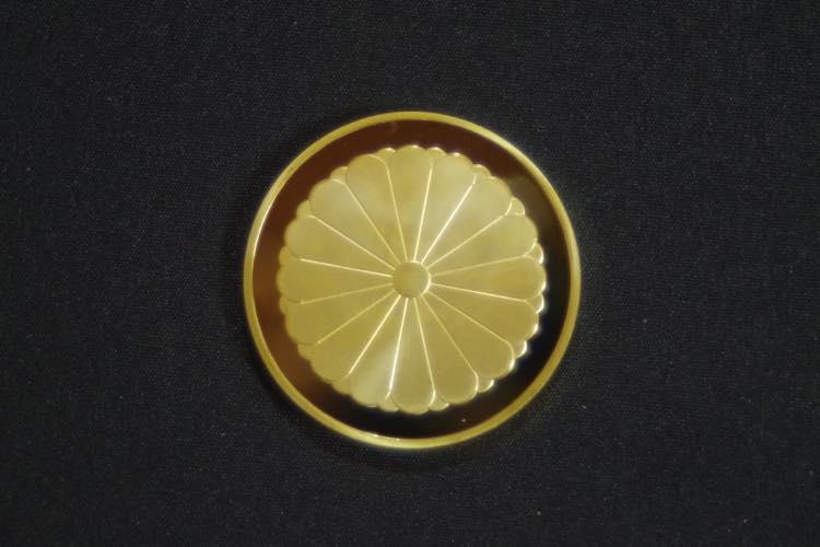 24KGP 記念メダル 菊の御紋 菊紋 鳳凰 メダル 金 ゴールド コイン_画像1