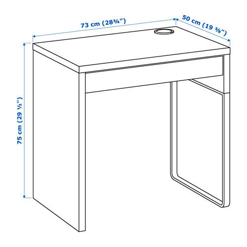 ☆ IKEA イケア ☆ MICKE デスク, ホワイト キッズ 子供 事務 パソコン ビジネス <サイズ 73x50 cm>_画像8