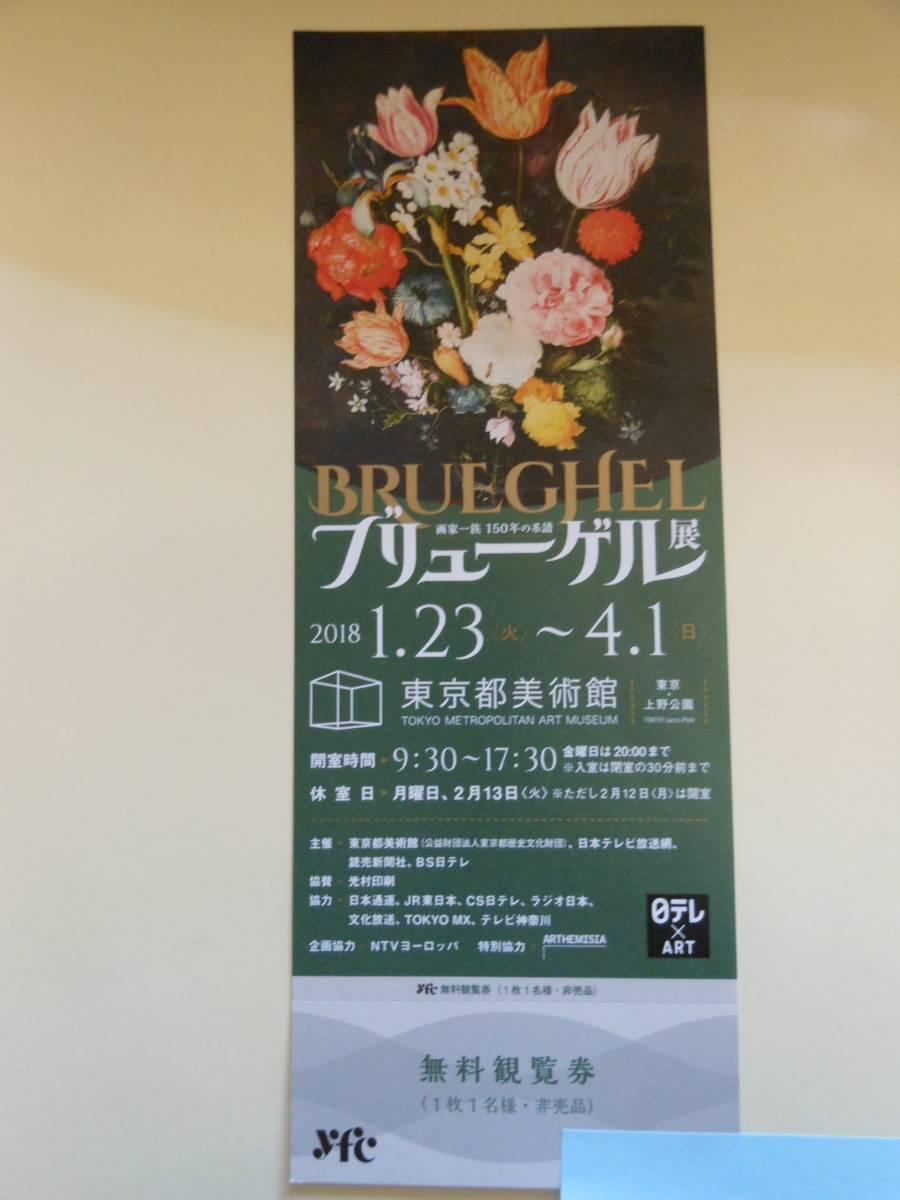 ブリューゲル展 画家一族150年の系譜 東京都美術館 観覧券1枚(送料込み)