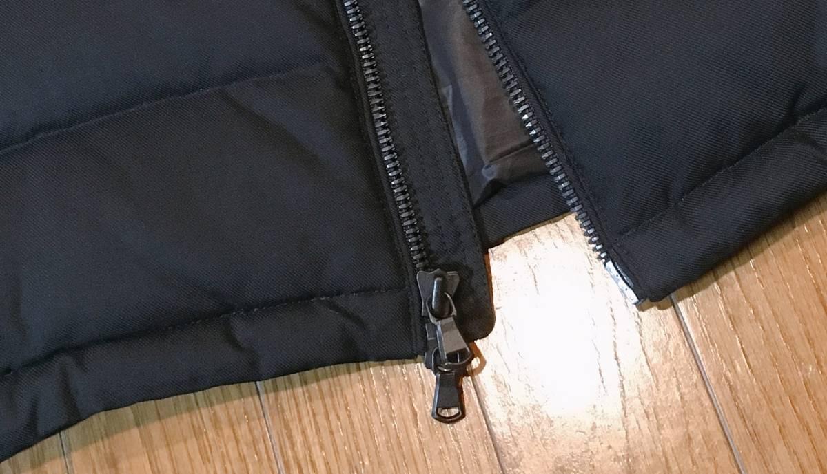【EDIFICE エディフィス】 上質ダブルジップ式 ダウンジャケット 美しいシルエット スタイリッシュ ブラック46_画像5