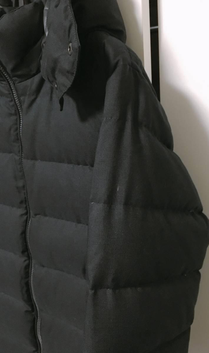 【EDIFICE エディフィス】 上質ダブルジップ式 ダウンジャケット 美しいシルエット スタイリッシュ ブラック46_画像2
