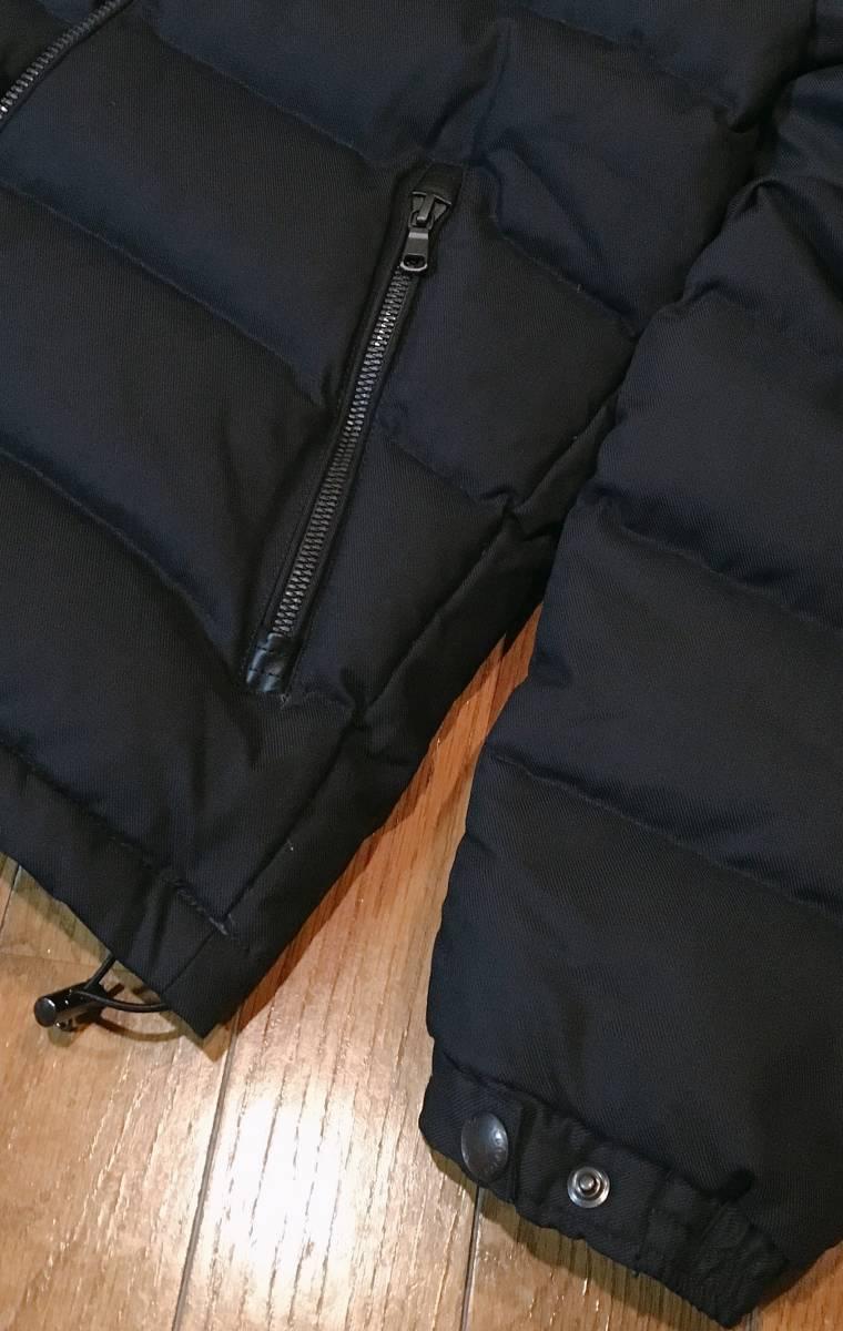 【EDIFICE エディフィス】 上質ダブルジップ式 ダウンジャケット 美しいシルエット スタイリッシュ ブラック46_画像4