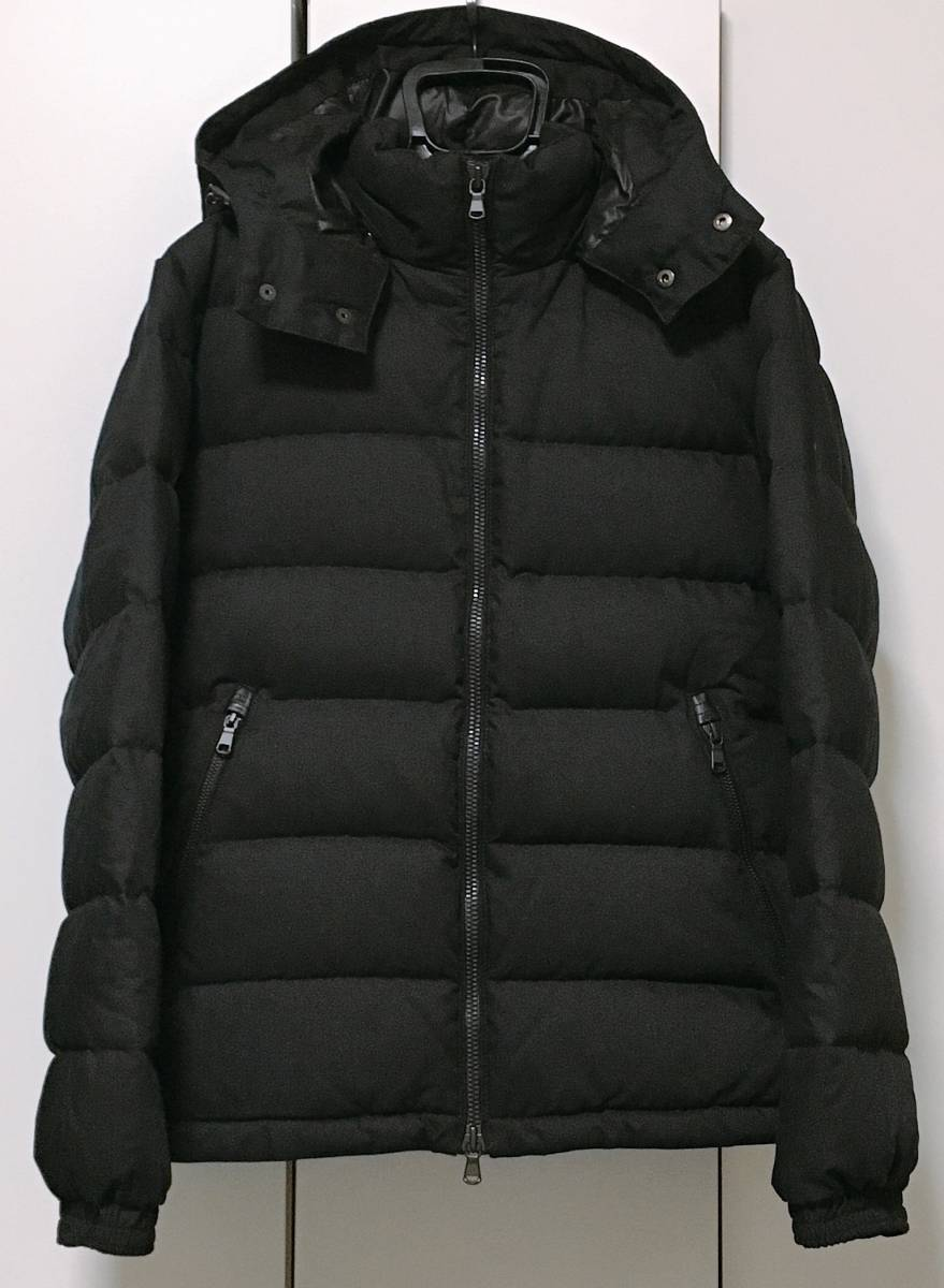 【EDIFICE エディフィス】 上質ダブルジップ式 ダウンジャケット 美しいシルエット スタイリッシュ ブラック46