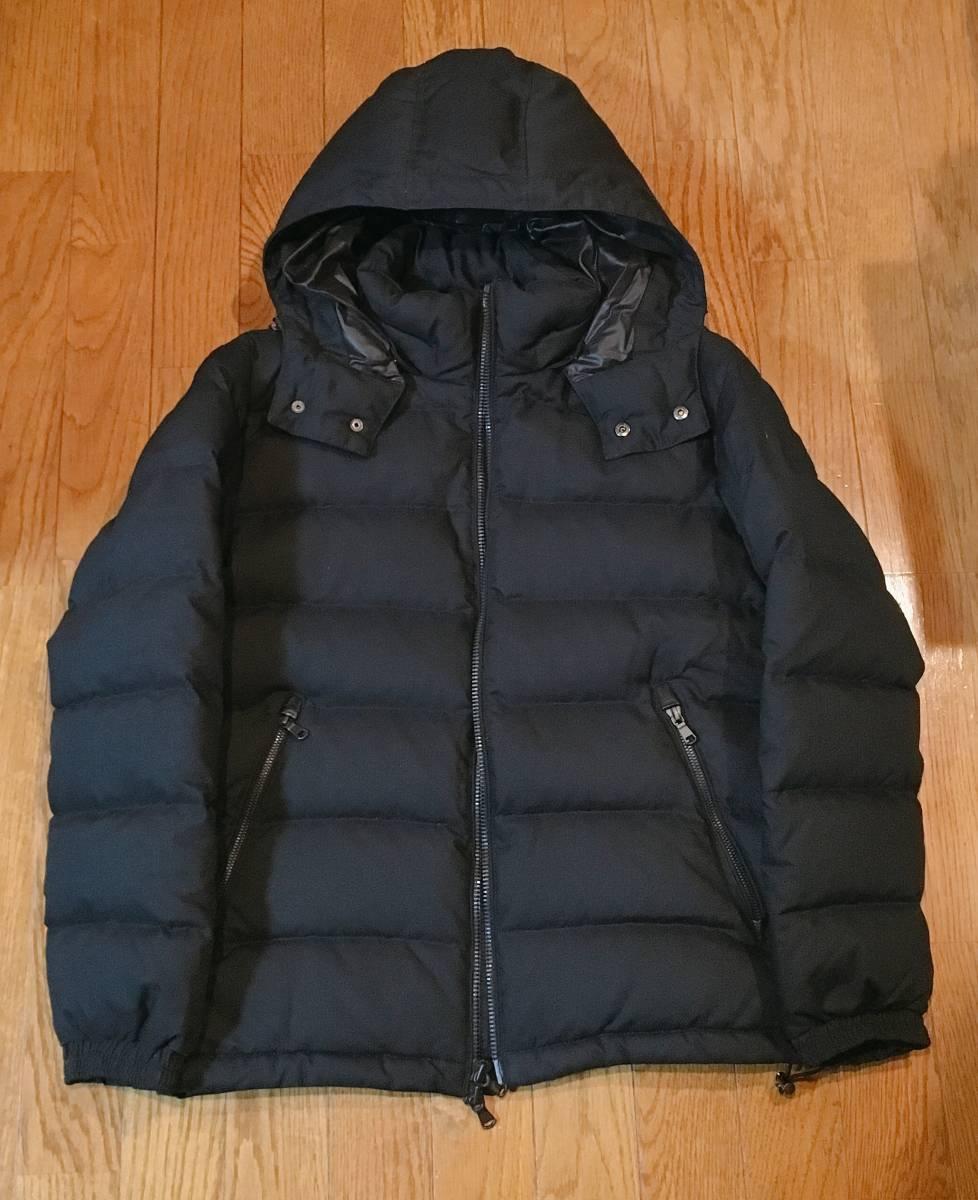 【EDIFICE エディフィス】 上質ダブルジップ式 ダウンジャケット 美しいシルエット スタイリッシュ ブラック46_画像3