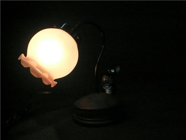 ●※前500〇魔女の宅急便 ジジ スタンドライト ランプ ジジと電球 照明 スタジオジブリ 猫_画像2