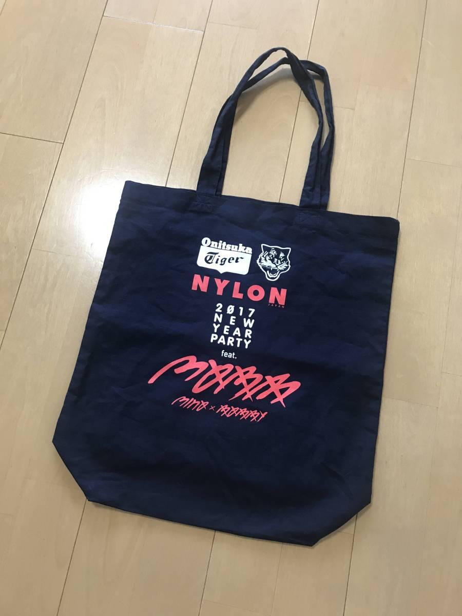mobb 限定 トートバッグ onitsuka tigerオニツカタイガー NYLON JAPAN bobby minoバビ ミノ 2017NEW YEAR PARTY数量限定配布 ikon winner
