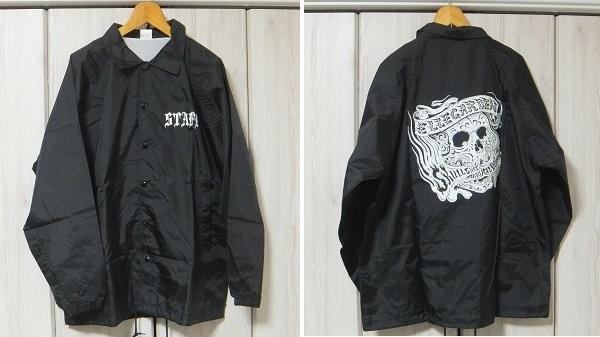 非売品 新品 ELLEGARDEN×MAGICALDESIGN×SKULLSHIT STAFF コーチJKT L 黒☆細美武士 エルレガーデン スタッフジャケット