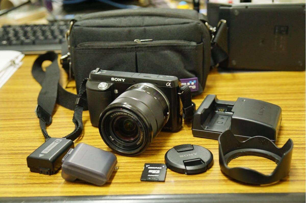 美品 SONY ミラーレス一眼カメラ NEX-F3 おまけ付き 液晶パネル綺麗です。α5100、α5000検討の方、見てください
