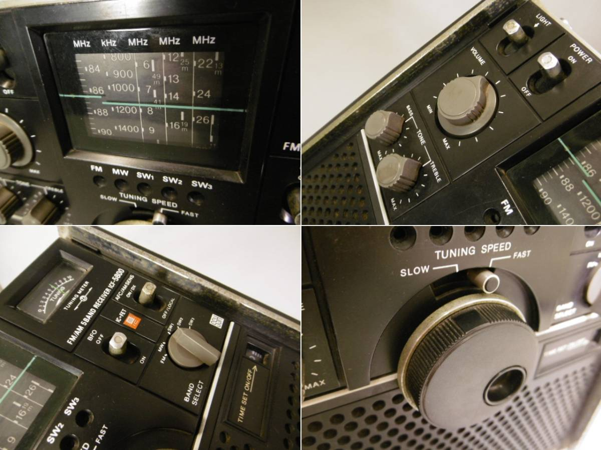 ☆SONY/ソニー BCLラジオ スカイセンサー ICF-5800 FM/AM/短波 5バンドε_画像2