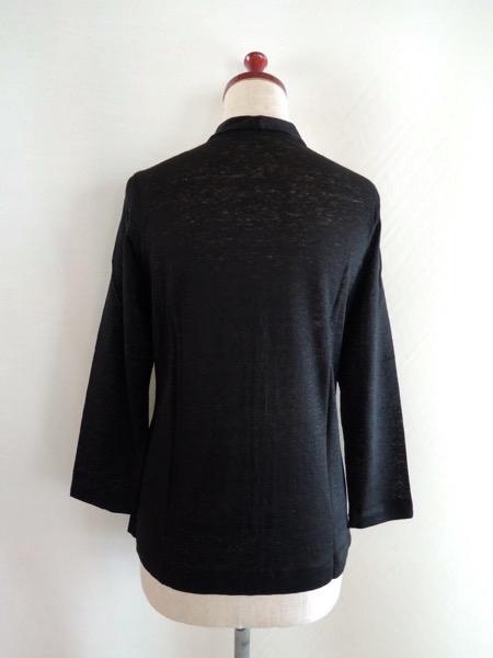 JURGEN LEHLヨーガンレール コットンリネン天竺 羽織 カーディガン ジャケット オーバーシャツ 黒 サイズM_画像5
