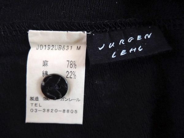 JURGEN LEHLヨーガンレール コットンリネン天竺 羽織 カーディガン ジャケット オーバーシャツ 黒 サイズM_画像7