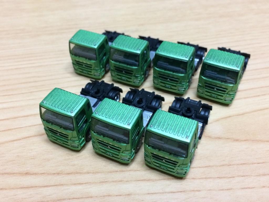 TOMYTEC トレーラーコレクション トレーラーセットBより 三菱ふそう スーパーグレート 緑トラクタのみ 7台