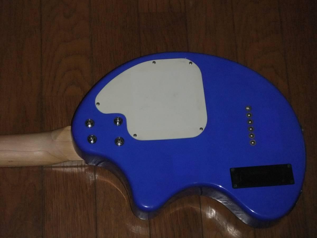 FERNANDES ZO-3 濃青 ブルー 極上! トラベルギター 弾き易さ抜群! メンテ済み! スピーカー内蔵 ミニギター 名機! フェルナンデス 激レア色!_画像9