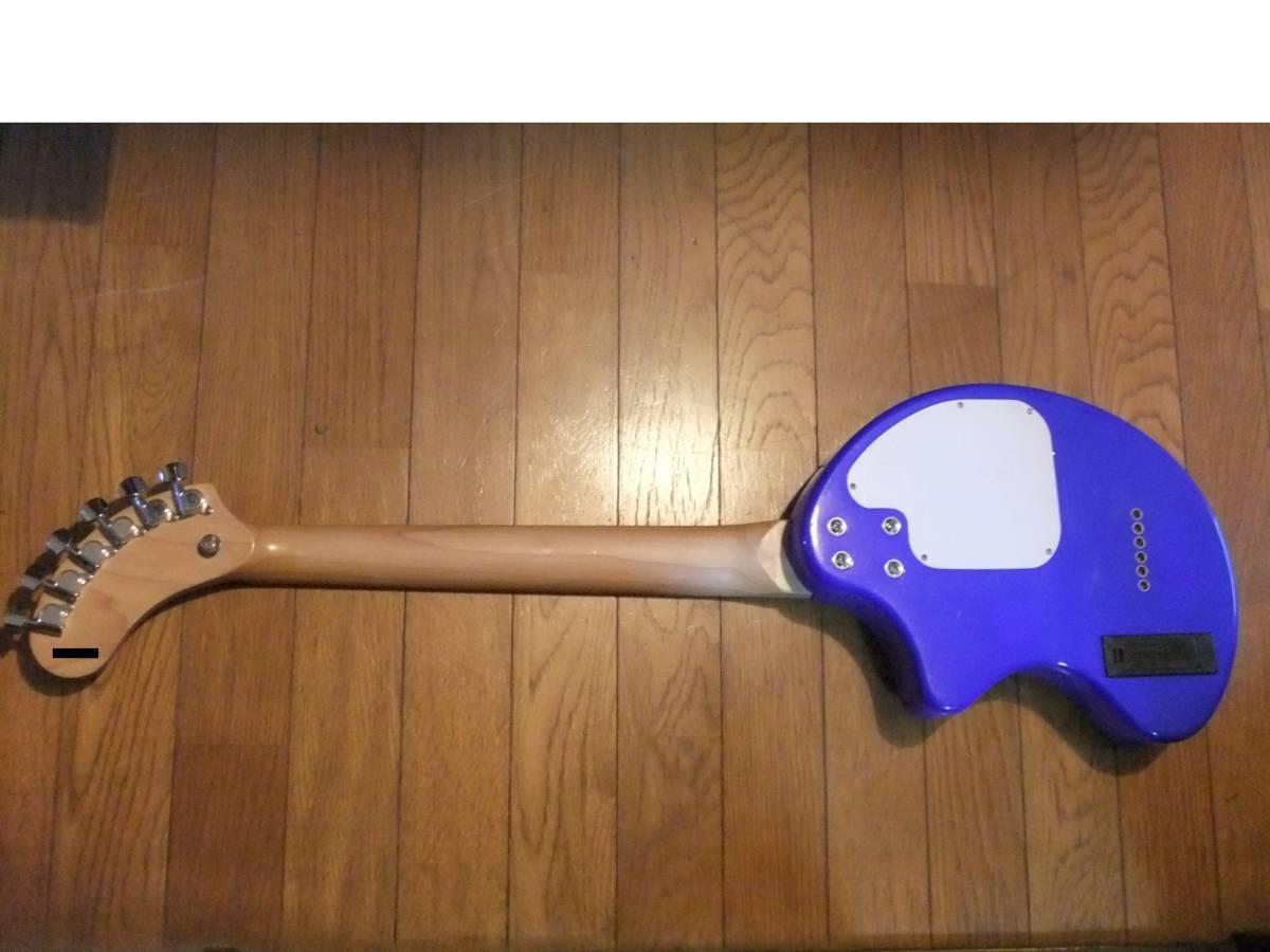 FERNANDES ZO-3 濃青 ブルー 極上! トラベルギター 弾き易さ抜群! メンテ済み! スピーカー内蔵 ミニギター 名機! フェルナンデス 激レア色!_画像4
