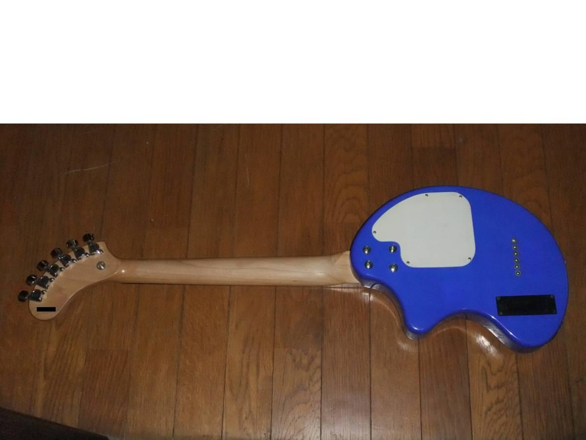FERNANDES ZO-3 濃青 ブルー 極上! トラベルギター 弾き易さ抜群! メンテ済み! スピーカー内蔵 ミニギター 名機! フェルナンデス 激レア色!_画像8