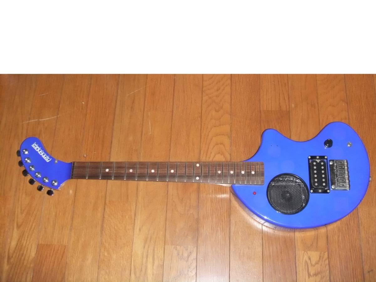 FERNANDES ZO-3 濃青 ブルー 極上! トラベルギター 弾き易さ抜群! メンテ済み! スピーカー内蔵 ミニギター 名機! フェルナンデス 激レア色!_7~9枚目はフラッシュ有り