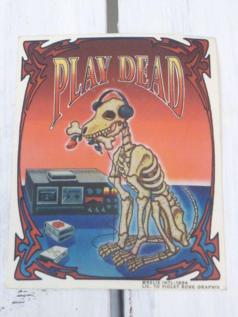 PLAY DEAD/プレイデッド ヴィンテージステッカー 1994 グレイトフルデッド