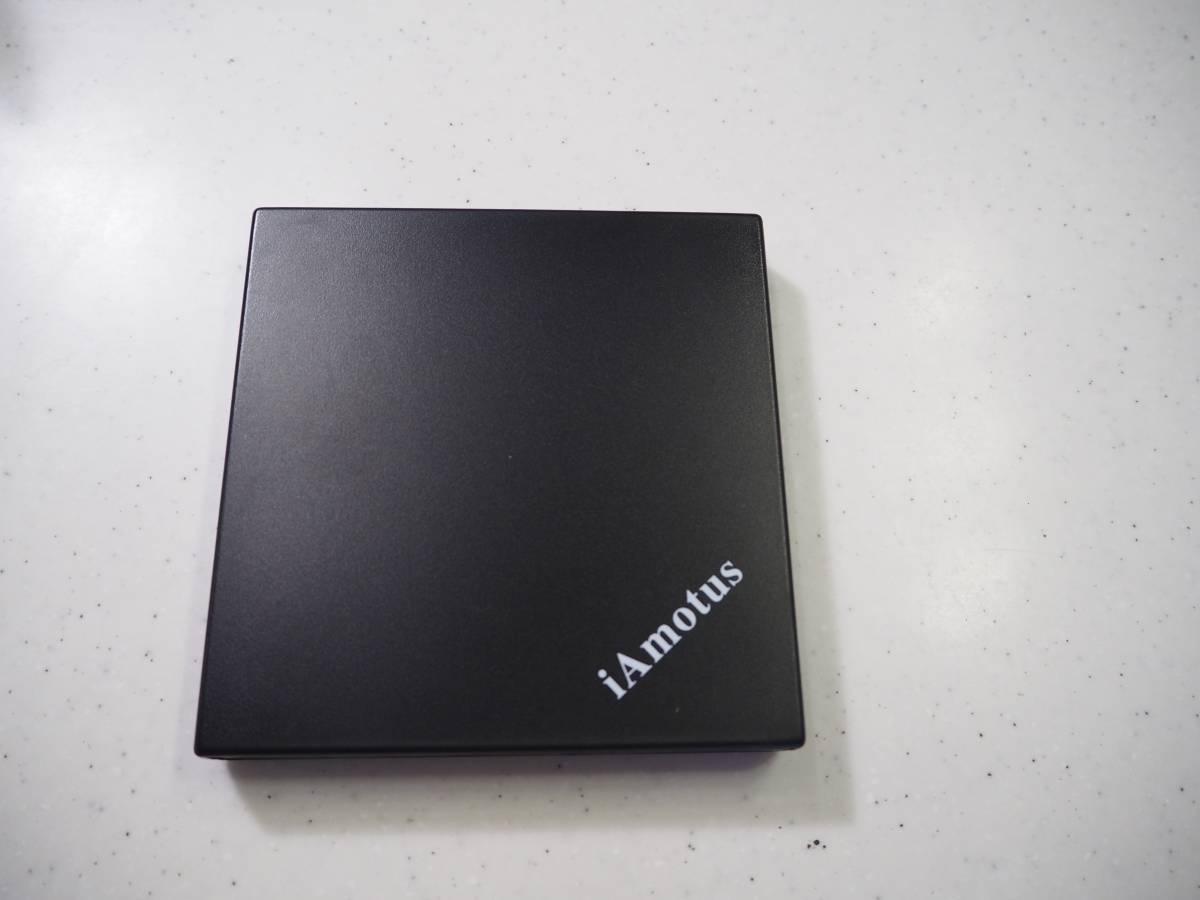 【送料込】 iAmotus ポータブルDVDドライブ 外付け ブラック USB2.0
