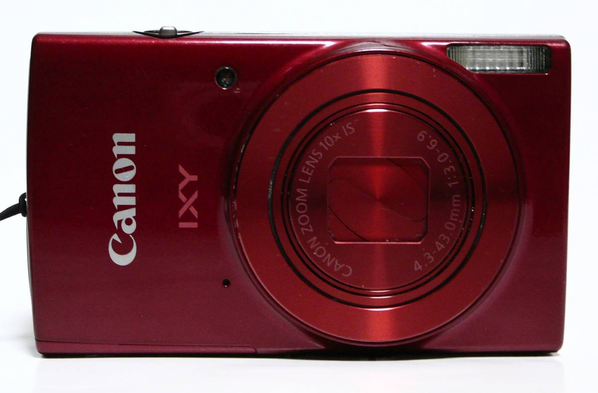 ジャンク・CANON★キヤノンIXY 190 レッド CANON ZOOM LENS 10xIS 4.3-43.0mm f1:30-6.9★2000万画素中古