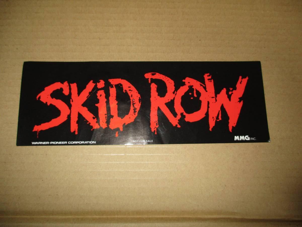 宣伝用ステッカー SKID ROW スキッドロウ