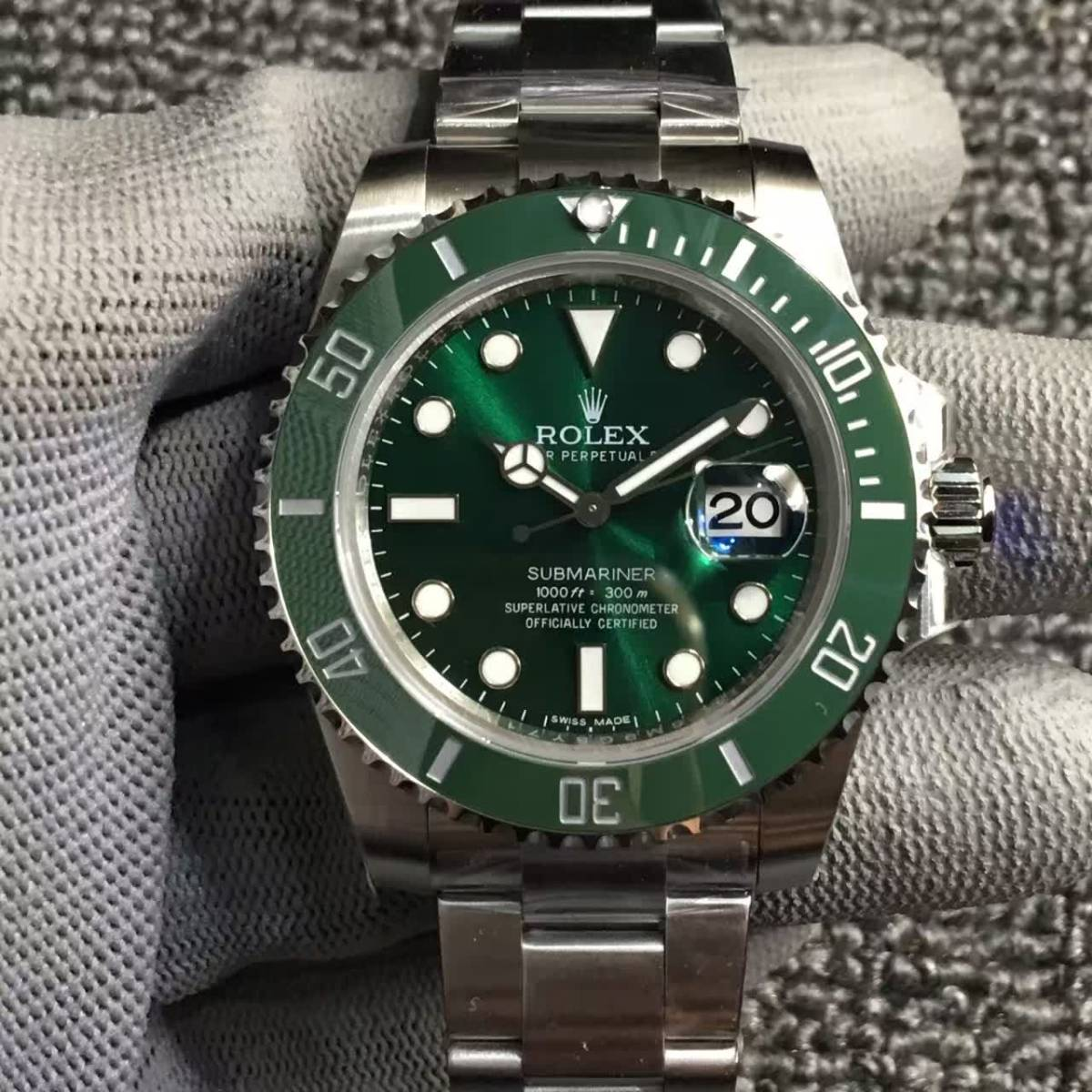 国内正規品 ROLEX ロレックス SUBMARINER グリーン サブマリーナ 時計 メンズ 116622 自