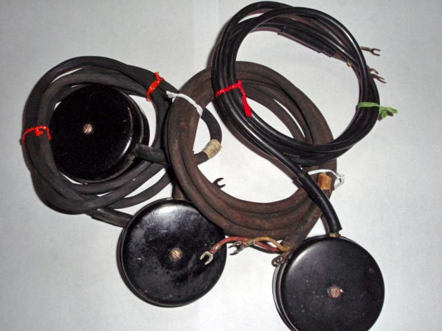 4号黒電話4号黒電話用ローゼット3つセット(コード付き)
