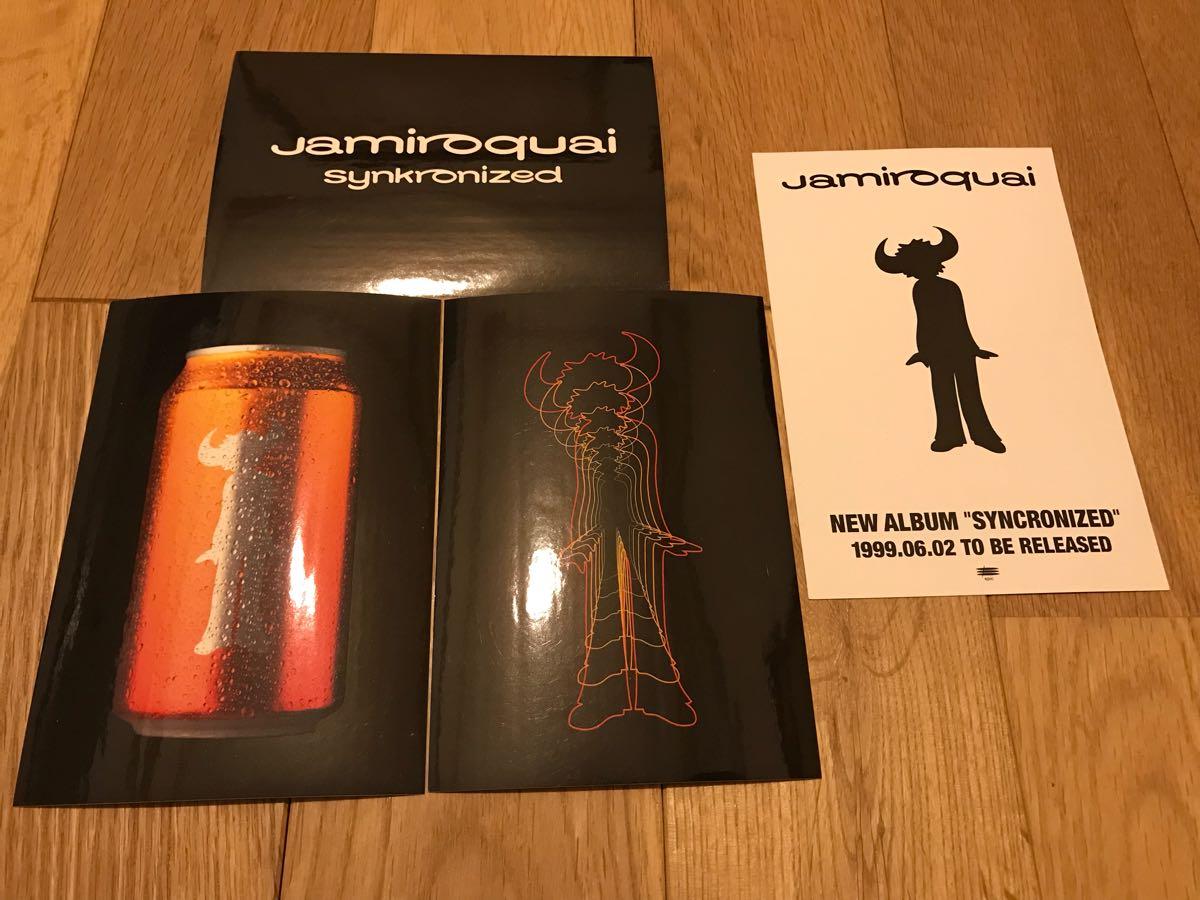 ジャミロクワイ ステッカー ポストカード 1999年 jamiroquai synkronized ツアー物販 未使用