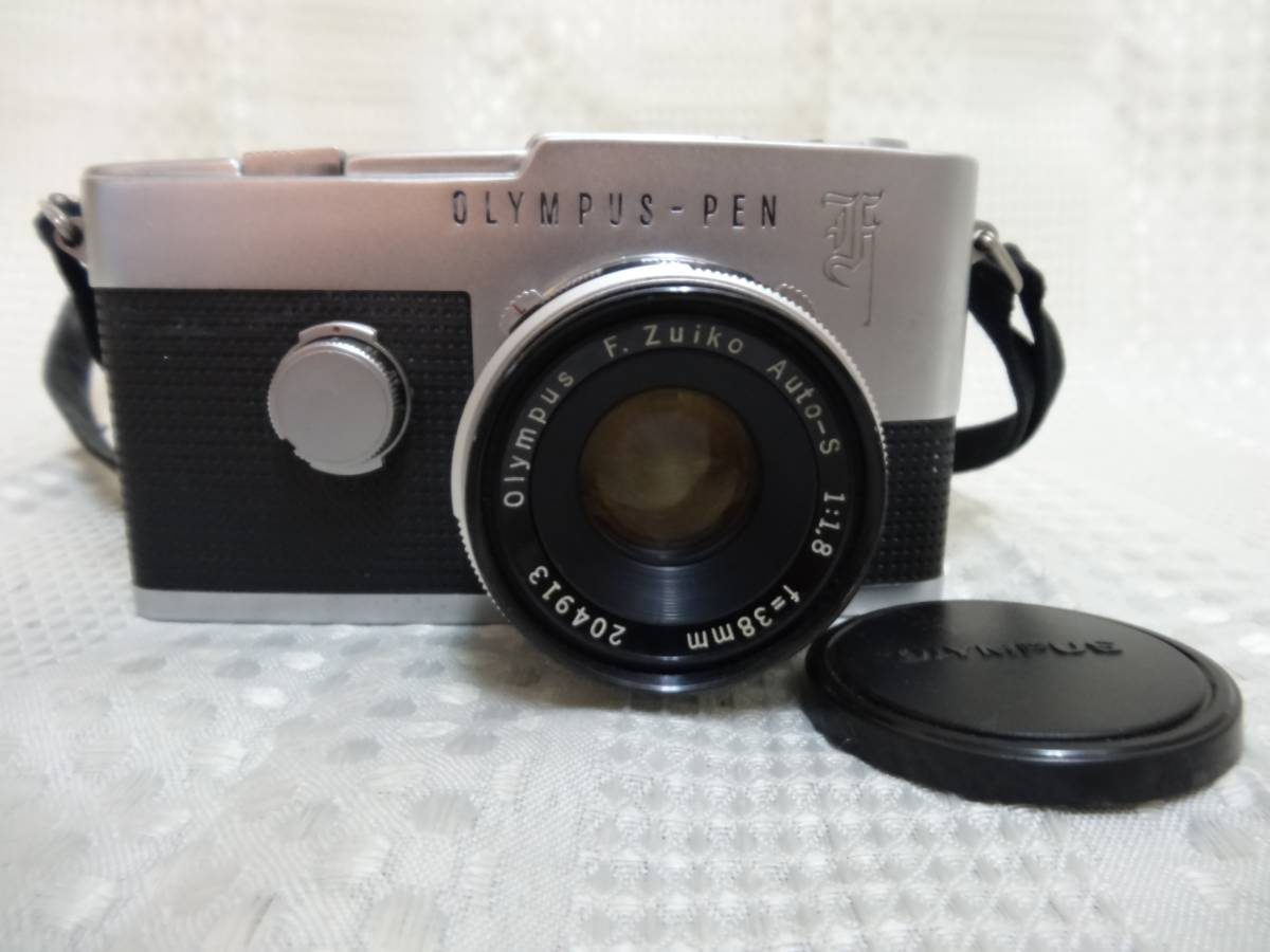 <9Y②60>OLYMPUS【オリンパス】PEN-F F.Zuiko Auto-S 1:1.8 38mm レンズ付き シャッターOK ジャンク扱い品_画像2
