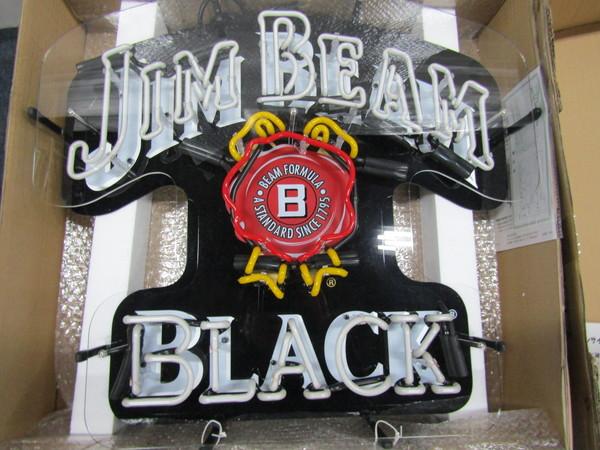 K-05 未使用品 jim beam black ジムビームブラック ネオン ペニージャパン