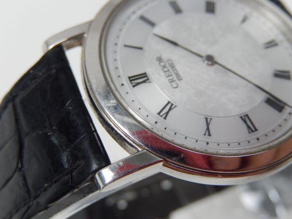 ★★SEIKO CREDOR 8J80-8A00 PT950 尾錠もPT950 クオーツ 稼働品 メンズ 腕時計 セイコー クレドール プラチナ_画像4