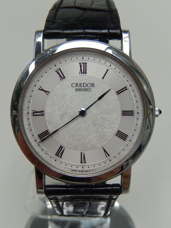 ★★SEIKO CREDOR 8J80-8A00 PT950 尾錠もPT950 クオーツ 稼働品 メンズ 腕時計 セイコー クレドール プラチナ_画像2