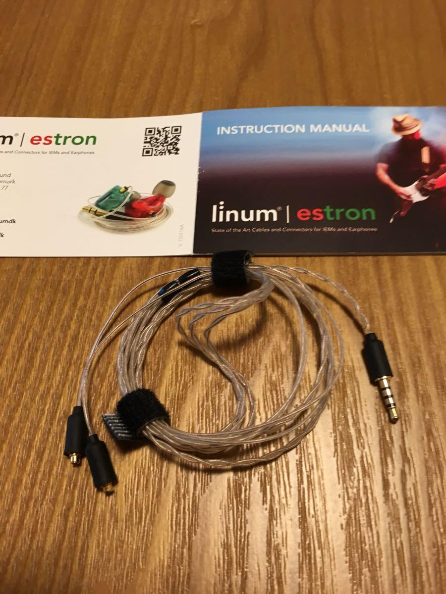 【激安 正規・美品】Estron社のイヤホン バランスケーブル linum 2.5mm4極バランスケーブル MMCX (AK/ONKYO/Campfire Audio/Shure)