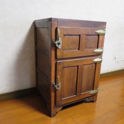 ☆ 昭和レトロ☆ 懐かしい~木製 状態の良い 氷冷蔵庫 ワインクーラー ☆ アンテーク_画像1
