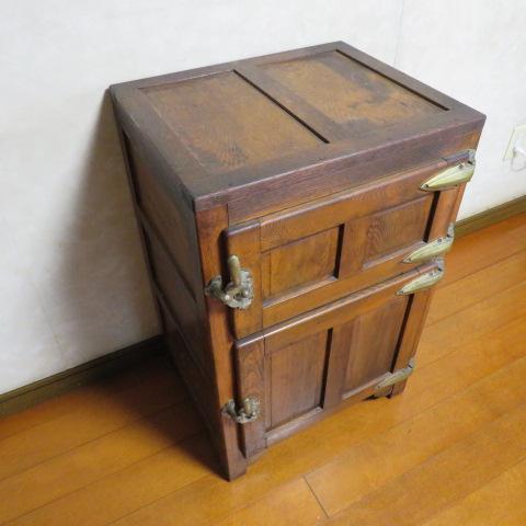 ☆ 昭和レトロ☆ 懐かしい~木製 状態の良い 氷冷蔵庫 ワインクーラー ☆ アンテーク_画像3