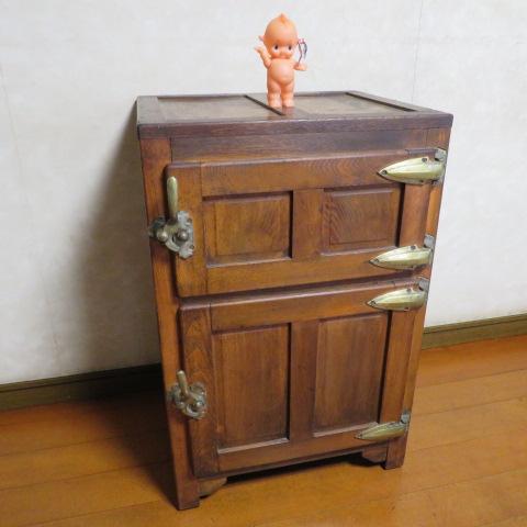 ☆ 昭和レトロ☆ 懐かしい~木製 状態の良い 氷冷蔵庫 ワインクーラー ☆ アンテーク_画像10