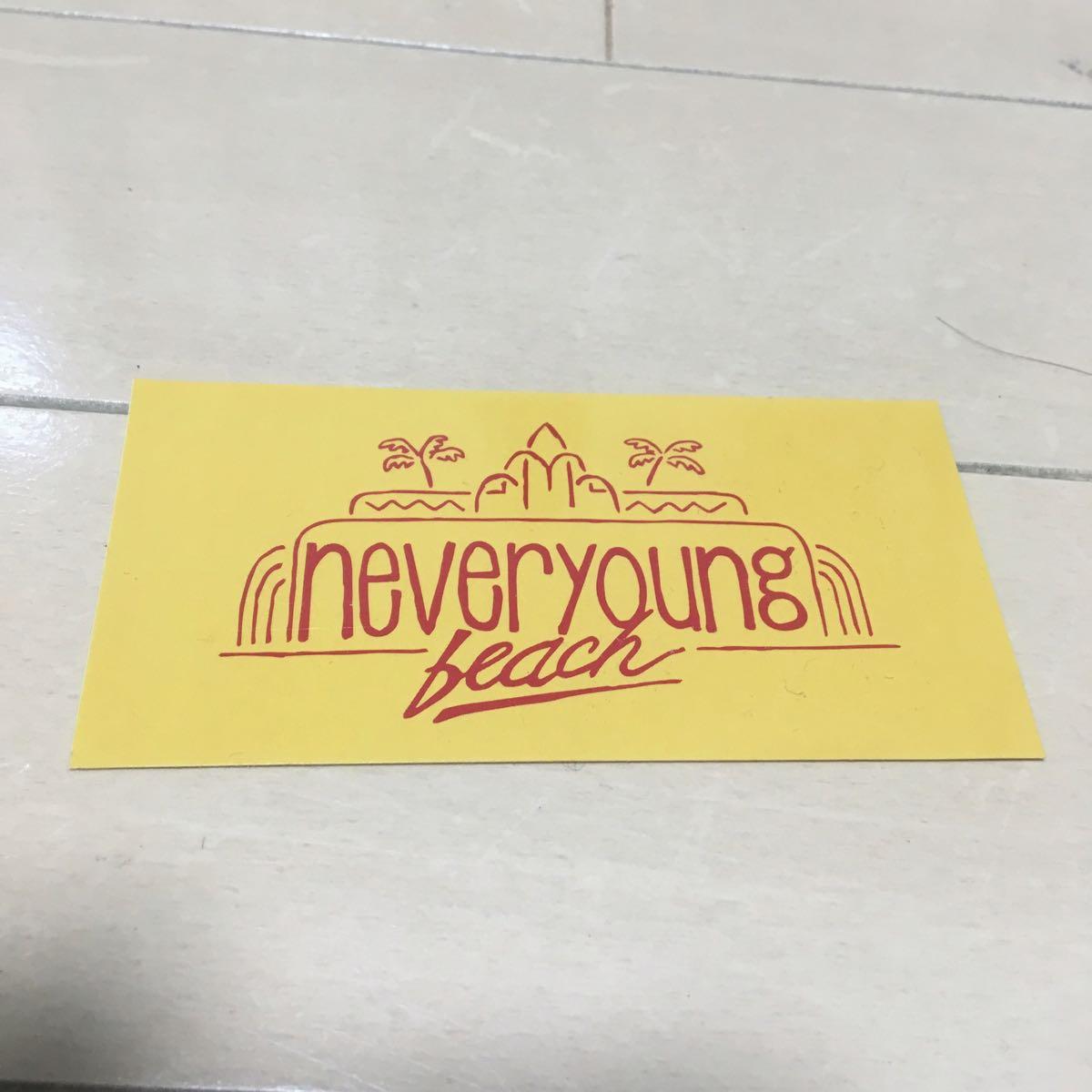 【非売品】 Never Young Beach 購入者特典 ステッカー (縦5cm x 横10cm) Suchmos Nulbarich