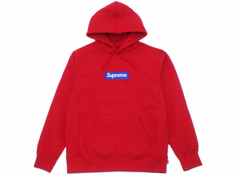 M サイズ Supreme 2017FW Box Logo Hooded Sweatshirt Red Bogo シュプリーム ボックスロ